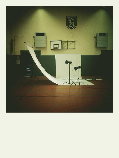 Das Setting in der Turnhalle des TSV Sachsenhausen