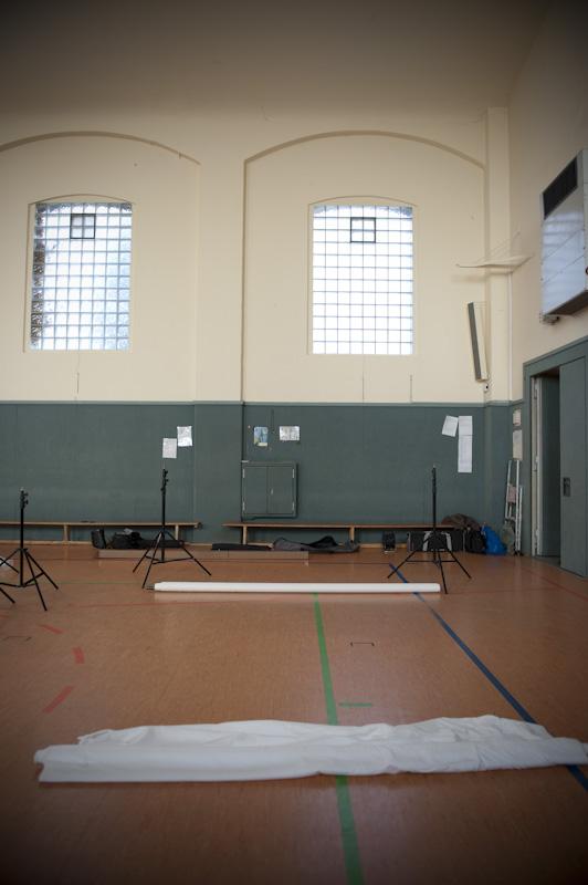 Die Turnhalle des TSV Sachsenhausen