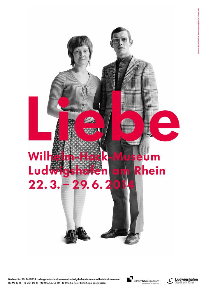 """Plakat zur """"Liebe""""-Ausstellung im Wilhelm-Hack-Museum vom 21. März bis 29. Juni 2014"""